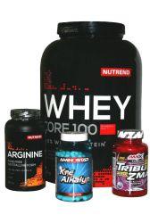 Výhodný hardcore balíček pro náročné 1 - Nutrend Whey Core 100 - 2250 g + Aminostar Kre─Alkalyn 120 kapslí + Amix Tribu 90 % & ZMA 1200 mg 90 tablet + Nutrend Arginine 120 kapslí - po registraci SLEVA!