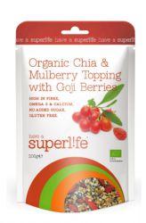 Superlife Organic Chia & Moruše Topping s Goji 200 g