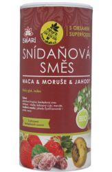 Iswari BIO Snídaňová směs 800 g ─ maca & moruše & jahody