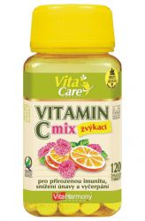 VitaHarmony Vitamín C 100 mg - 120 tablet ─ příchuť pomeranč & malina