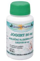 Unios Pharma jogurt 50 mg + jablečná vláknina + lecitin 90 kapslí