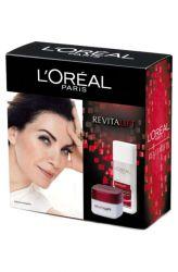 L'Oréal Revitalift Box ─ Denní krém 50 ml + Odličovací mléko 200 ml