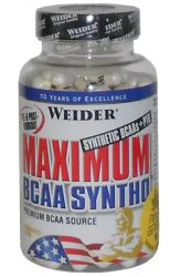 MAXIMUM BCAA SYNTHO 120cps. Weider - po registraci SLEVA!
