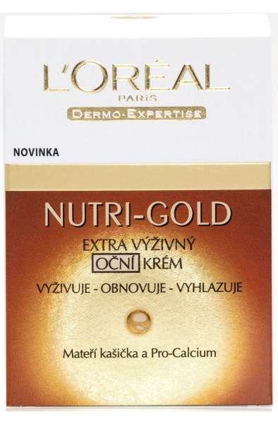 L'Oréal Paris Nutri-Gold Extra výživný oční krém 15 ml