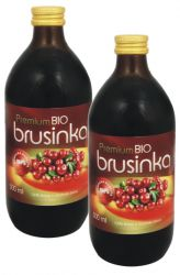 SET 2x BIO Brusinka 100% šťáva 500 ml