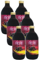 SET 6x BIO Acai 100% pyré 500 ml