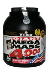 Weider Giant Mega Mass 4000 - 3000 g - Brusinka a Jogurt