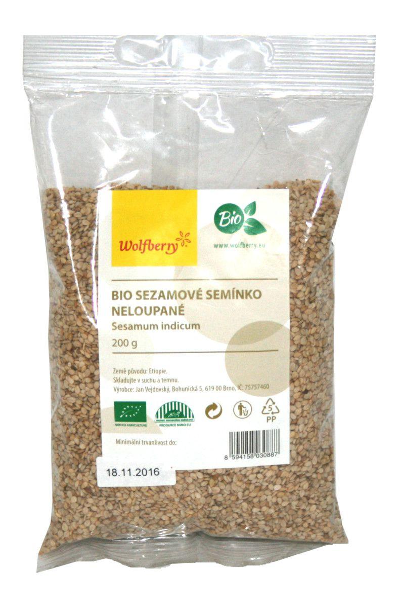 Wolfberry Sezamové semínko BIO neloupané 200 g