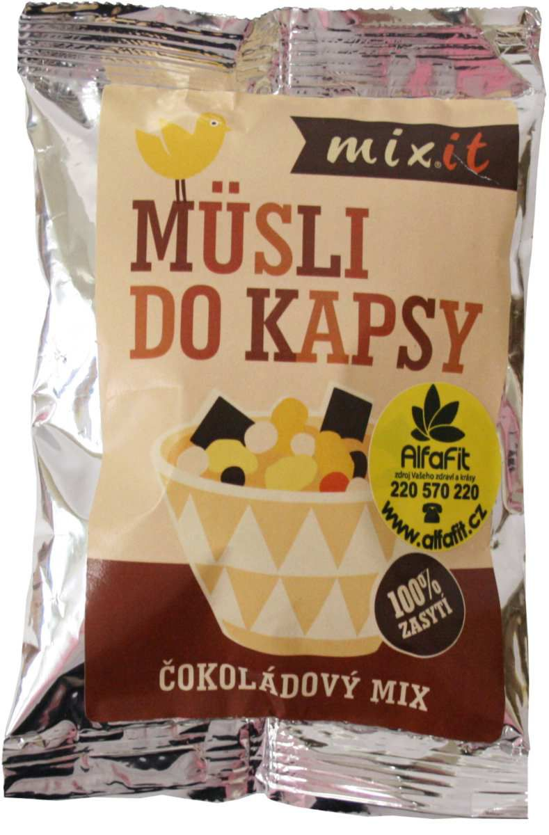 MIXIT Čokoládové musli do kapsy 60 g