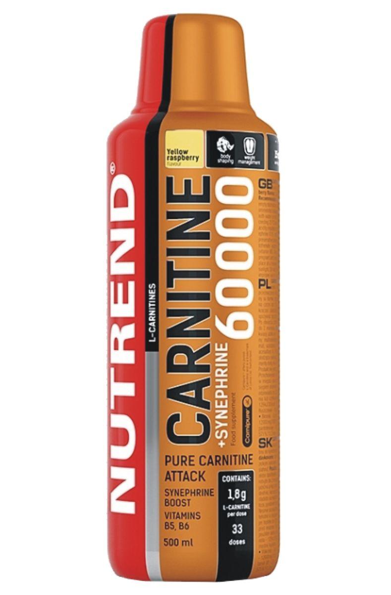 Nutrend CARNITINE 60000 + SYNEPHRINE 500 ml – příchuť žlutá malina