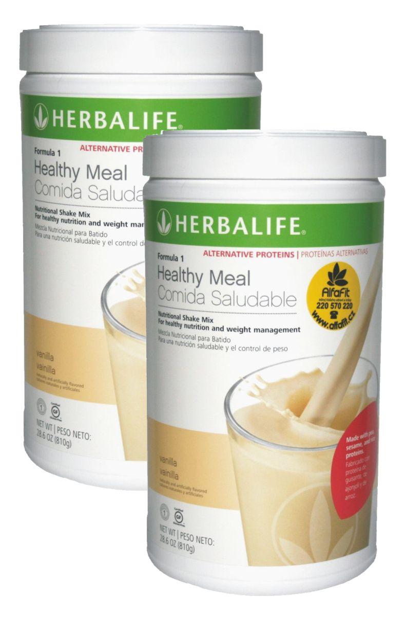 SET 2x Herbalife Koktejl Formule 1 Alternative ─ vanilka 810 g