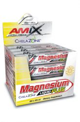 Amix Magnesium Liquid Plus 20 x 25 ml příchuť citrón