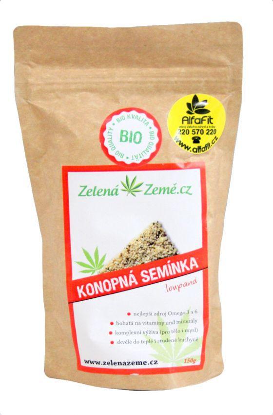 Zelená Země BIO Konopná semínka loupaná 150 g