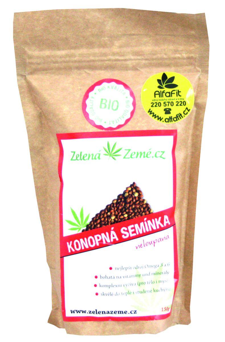 Zelená Země BIO Konopná semínka neloupaná 150 g