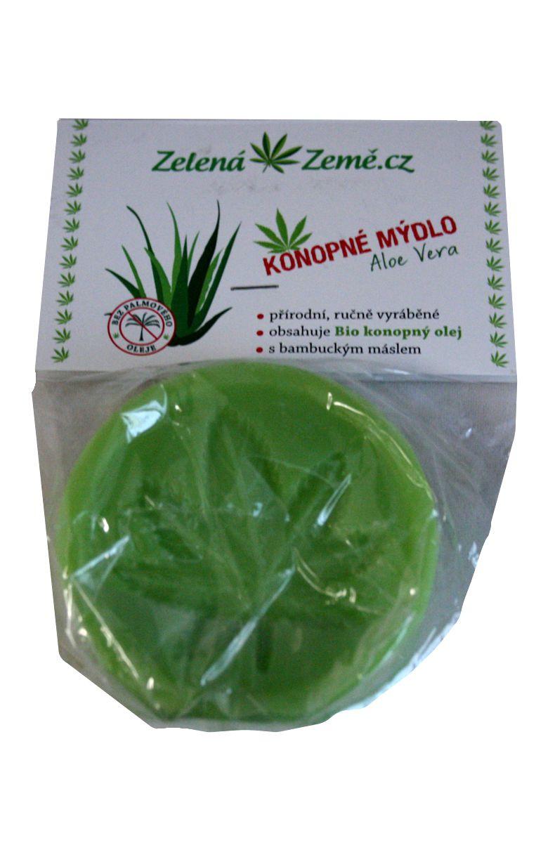 Zelená Země Konopné mýdlo s Aloe Vera 80 g