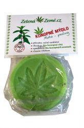 Zelená Země Konopné mýdlo – máta 80 g