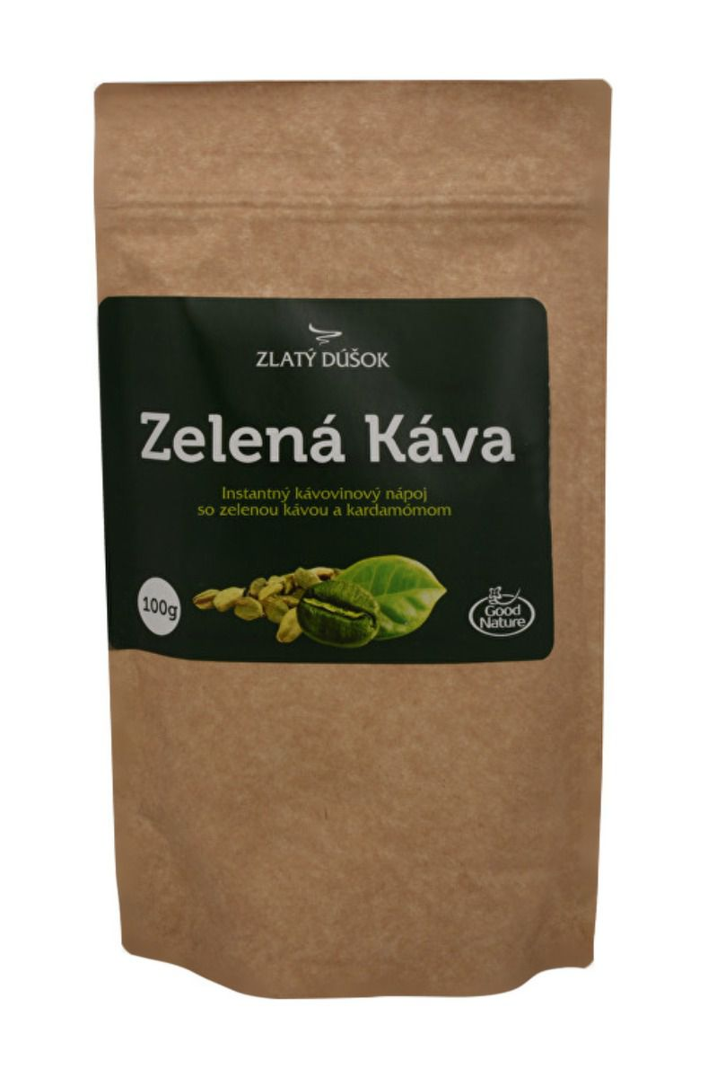 Good Nature Zlatý doušek – zelená káva s kardamomem 100 g