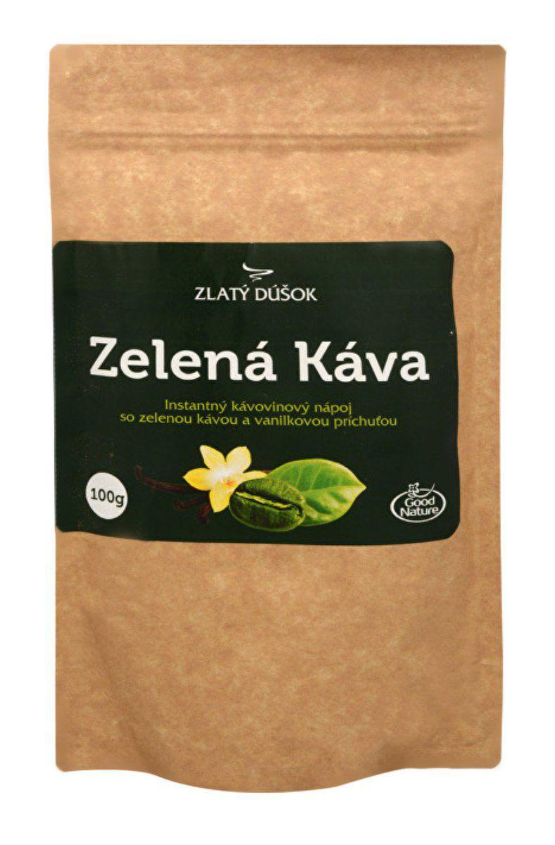 Good Nature Zlatý doušek – zelená káva s vanilkou 100 g