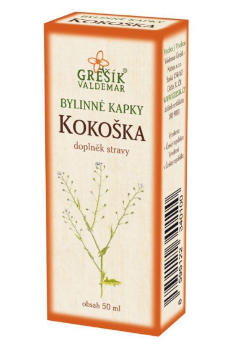 Grešík Kokoška bylinné kapky 50 ml