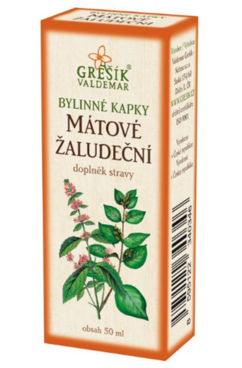 Grešík Mátové žaludeční bylinné kapky 50 ml