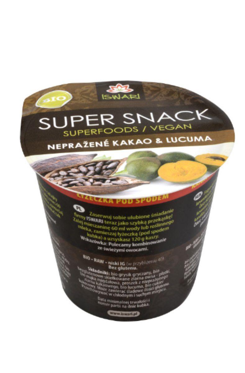 Iswari Supersnack kakao & lucuma BIO 60 g