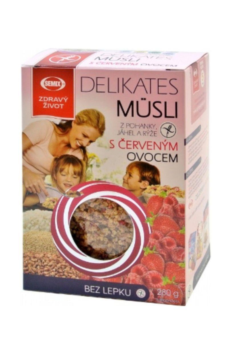 Semix Delikates müsli s červeným ovocem 280 g