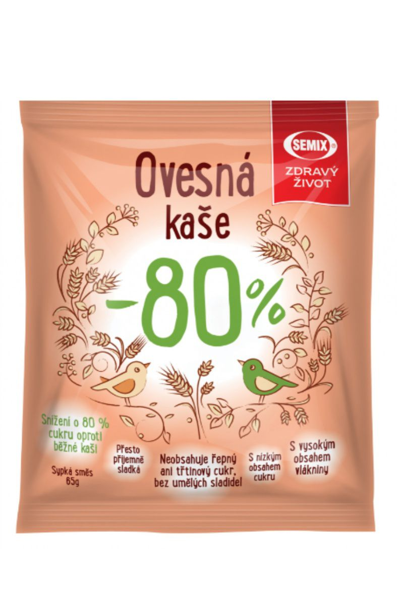Semix Ovesná kaše - 80 % cukru65 g