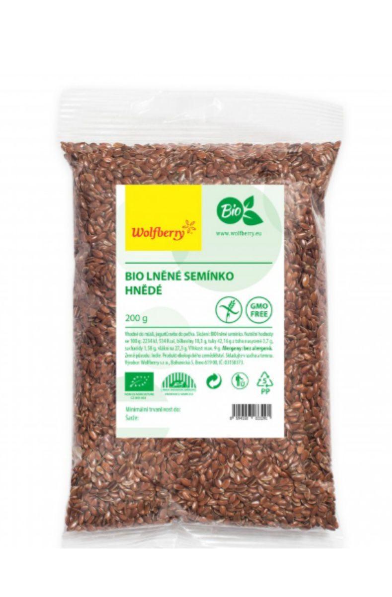 Wolfberry BIO Lněné semínko hnědé 200 g