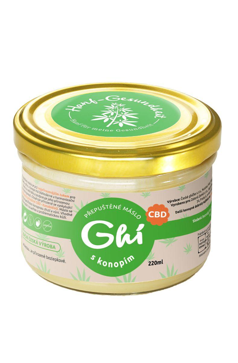 Zelená Země CBD Konopné máslo - přepuštěné 220 ml