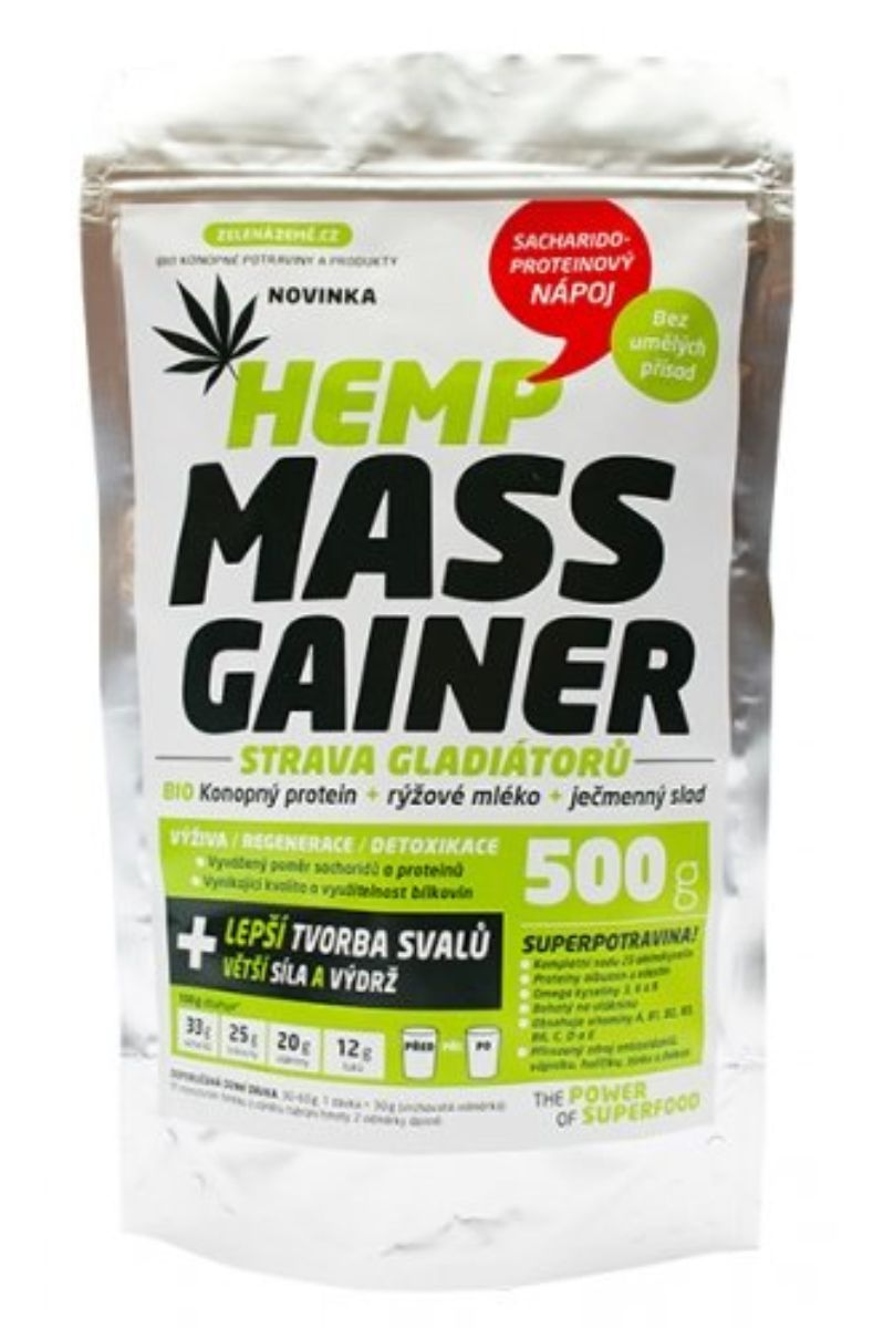 Zelená země Konopný Gainer Fitness 1000 g
