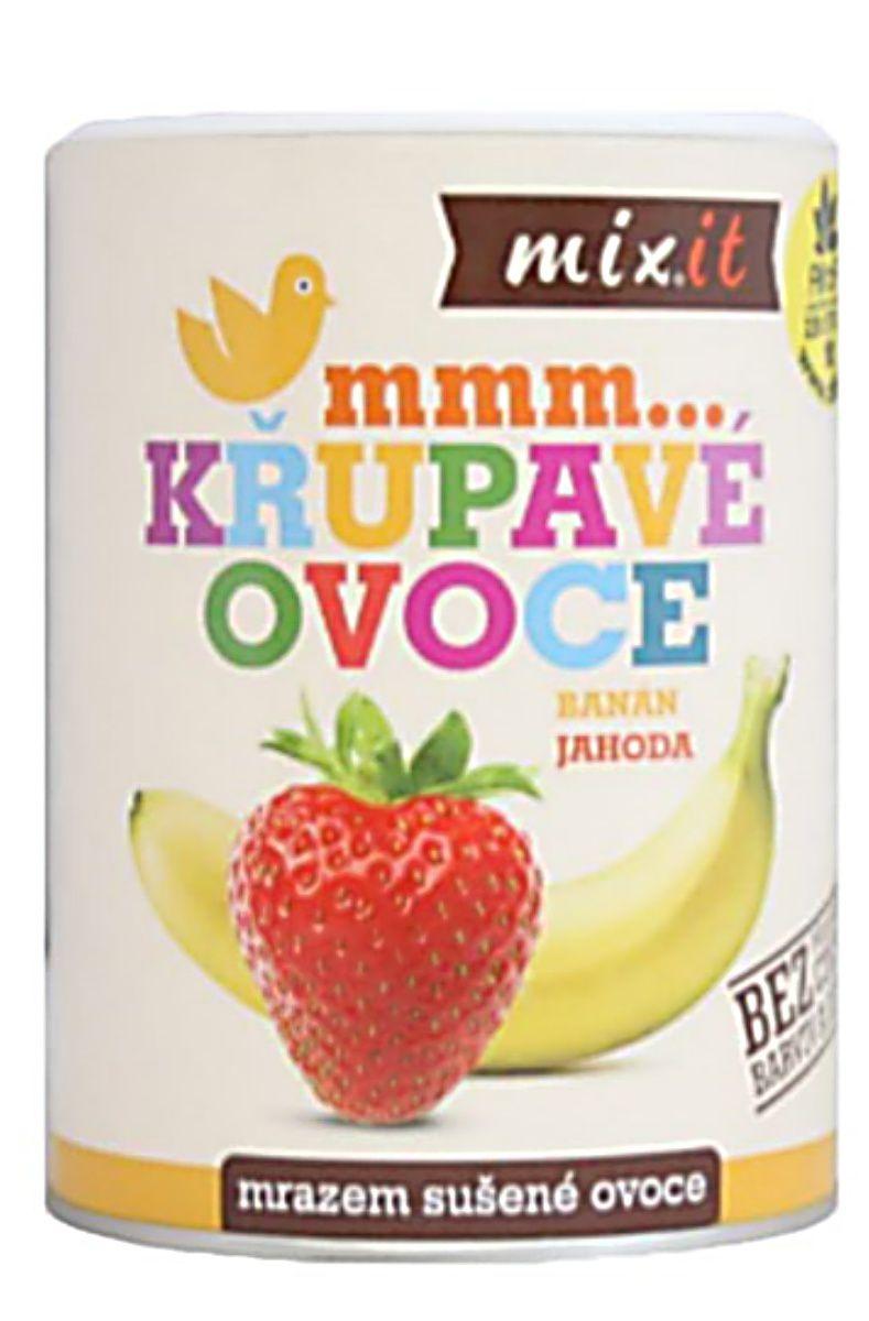 Mixit Banán Jahoda - Křupavé ovoce 80 g