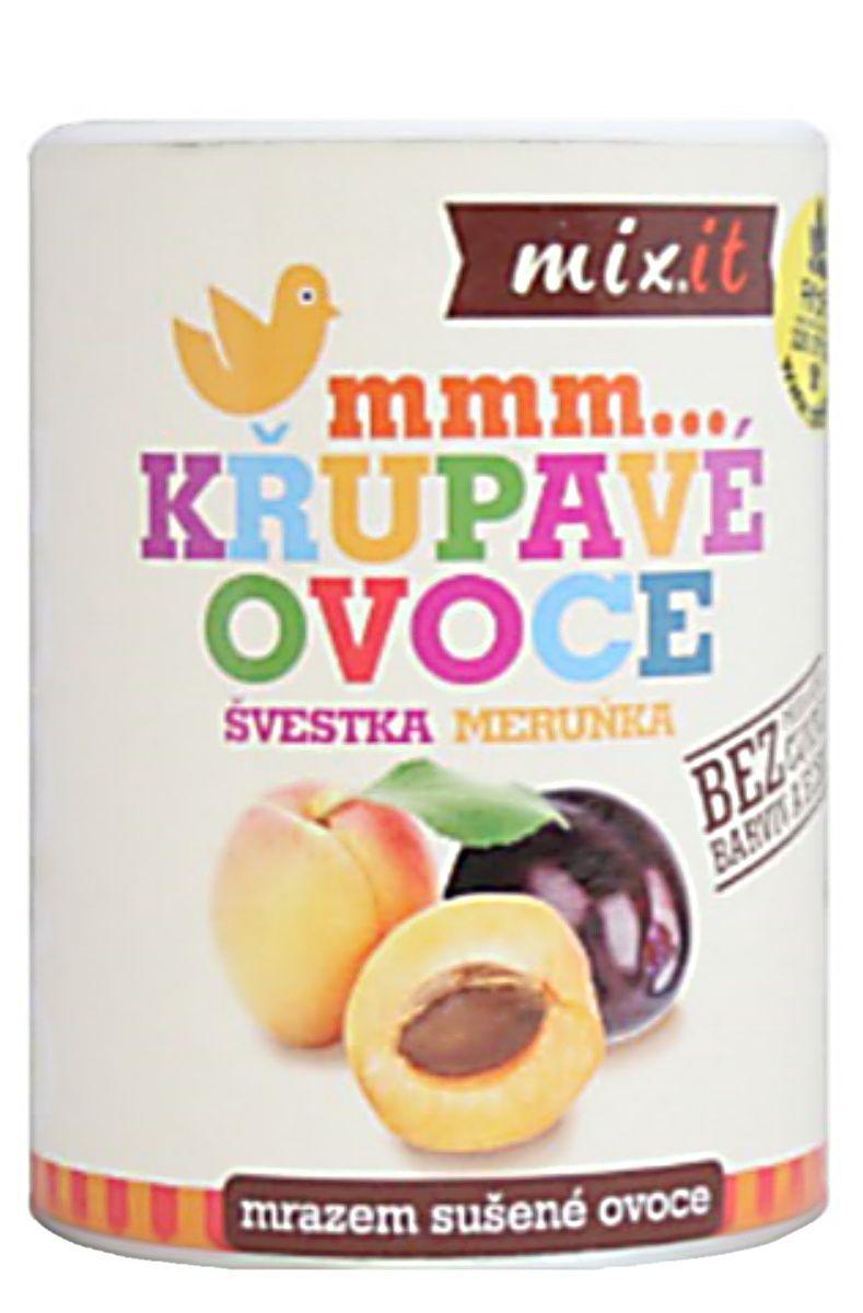 Mixit Švestka Meruňka - křupavé ovoce 65 g