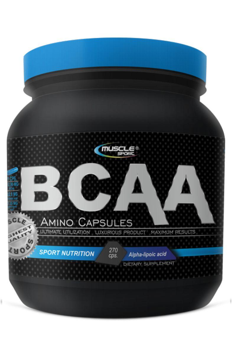 Musclesport BCAA Amino Caps 800 mg – 270 kapslí