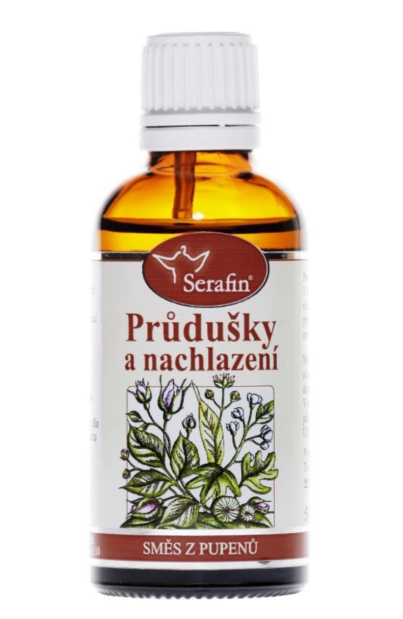Serafin Průdušky & Nachlazení ─ Tinktura ze směsi pupenů rostlin 50 ml