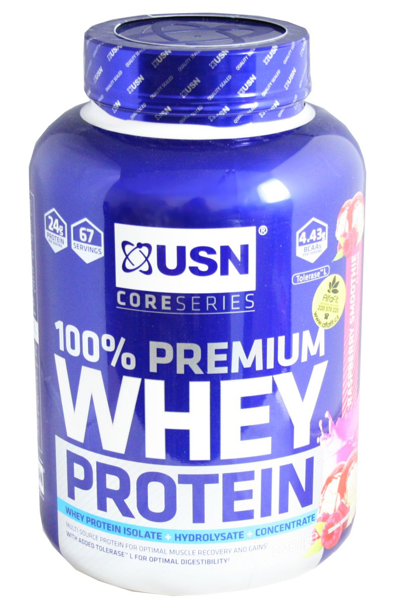 USN Whey Protein 2280 g malina