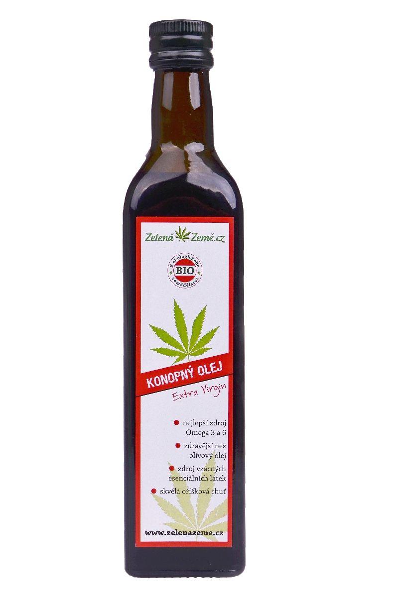 Zelená země BIO Konopný olej 250 ml