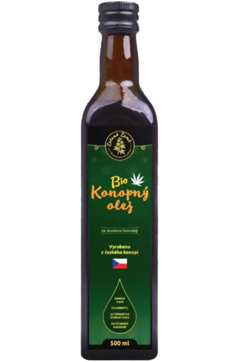 Zelená země BIO Konopný olej 500 ml