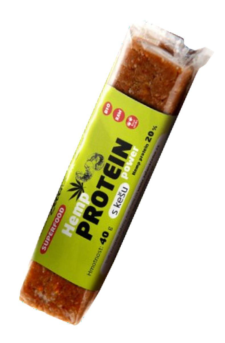 Proteinová tyčinka BIO - konopí a kešu 40 g