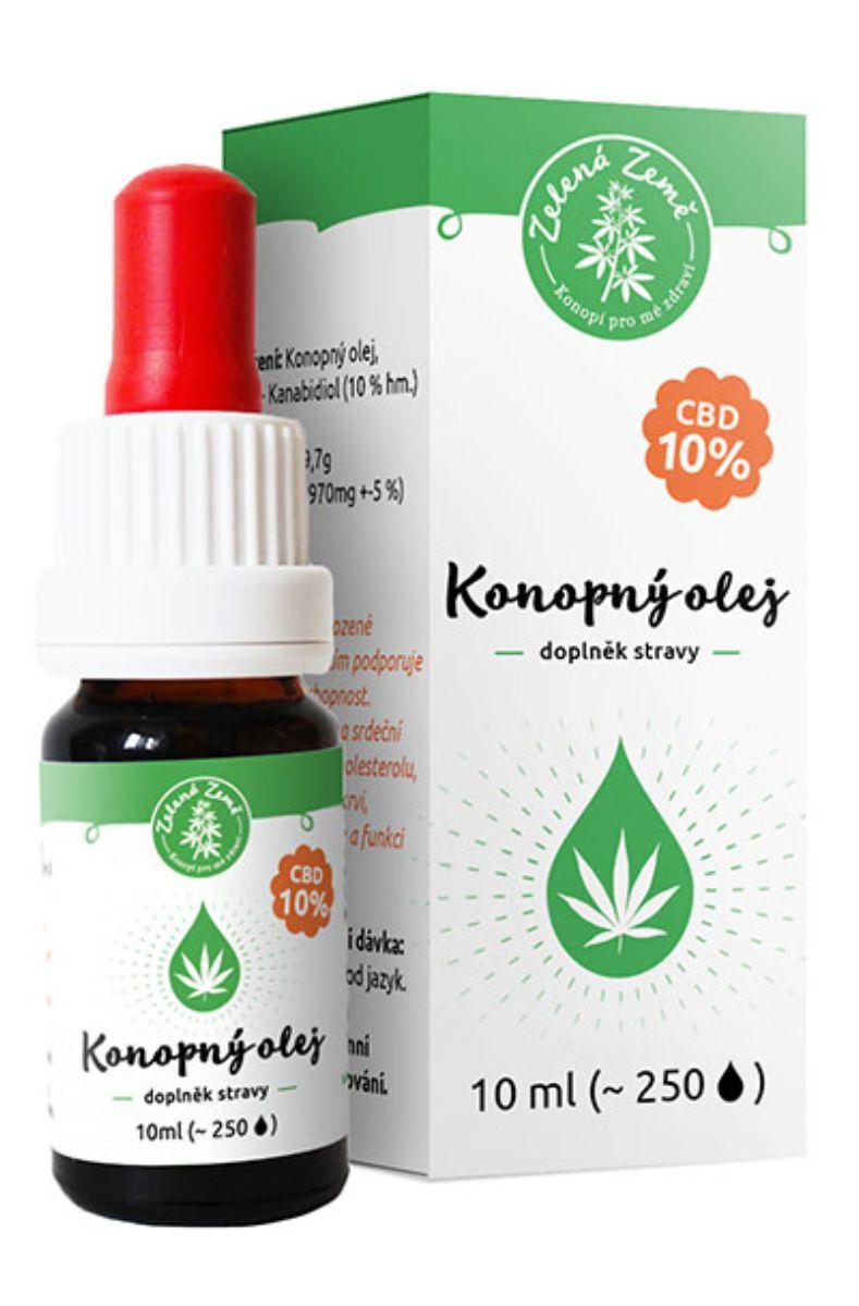 Zelená Země CBD Konopný olej 10% 10 ml