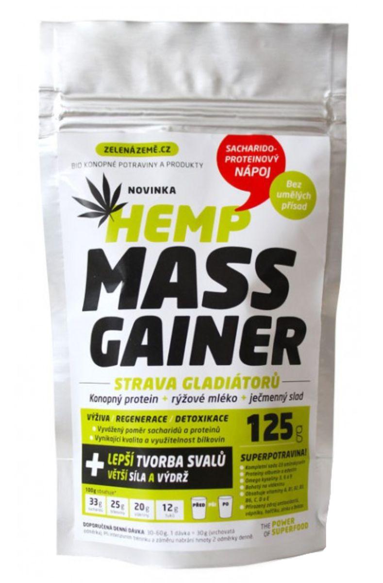 Zelená země Hemp Konopný Mass Gainer 125 g