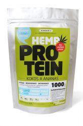 Zelená země Konopný protein kokos s ananasem 1000 g - protržený obal