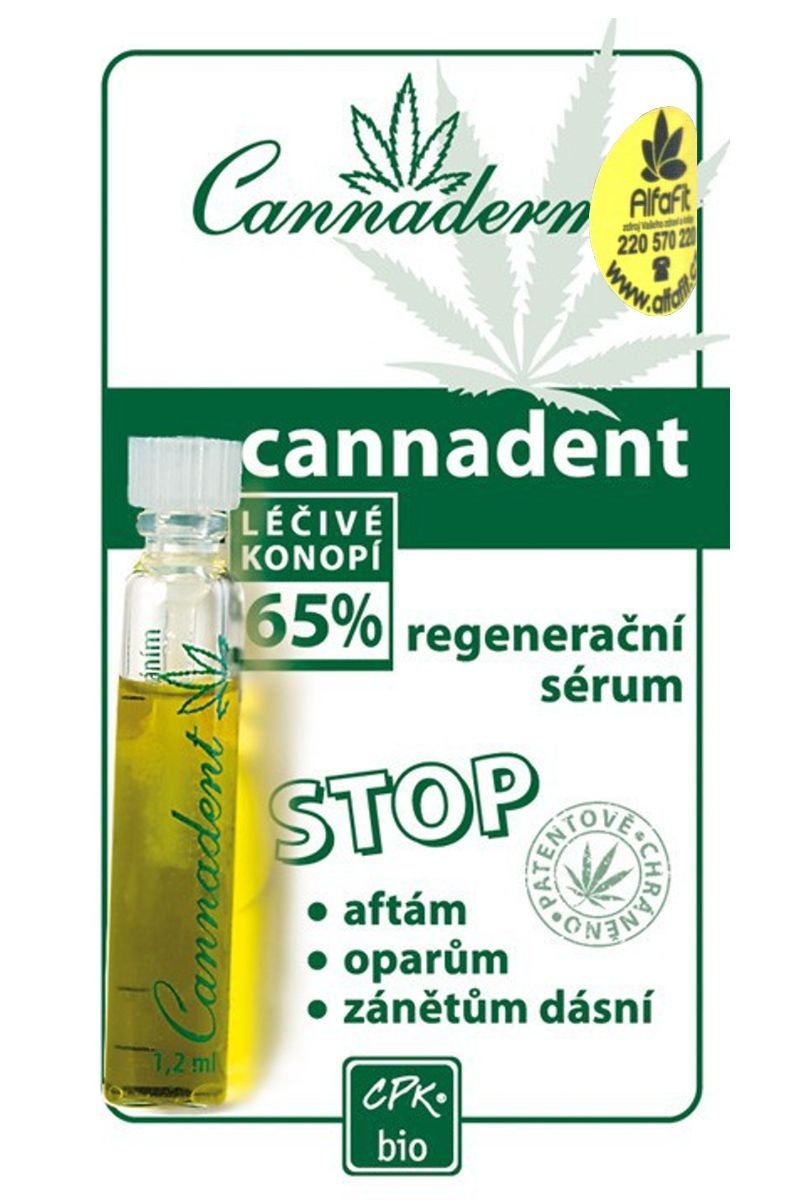 Cannadent sérum na afty a opary 1,2 ml