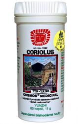 Cosmos Coriolus 11 g – 60 capsules ─ veterinary medicine with the Trametes versicolor (Coriolus ver