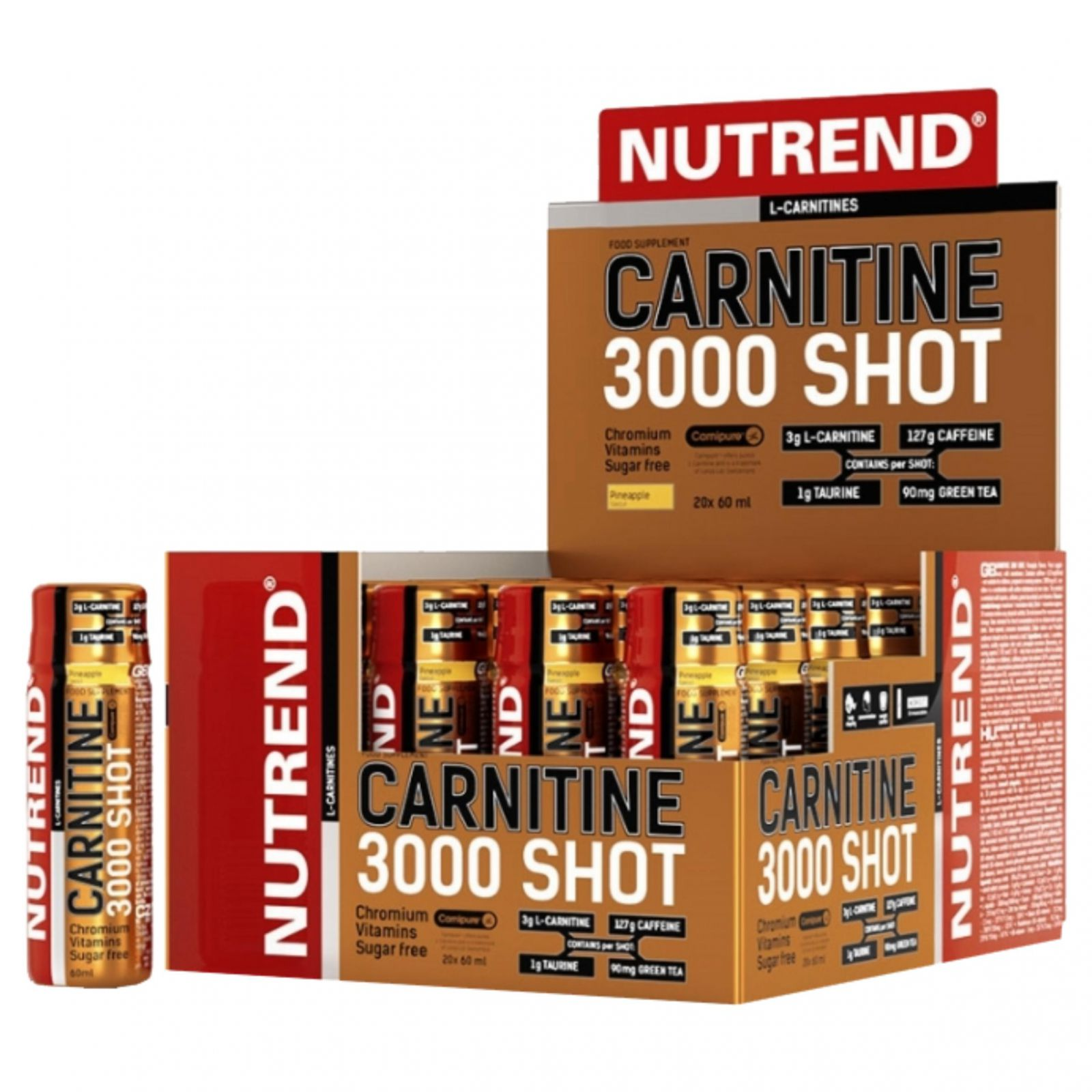 Nutrend carnitime 3000 shot - 20 x 60 ml