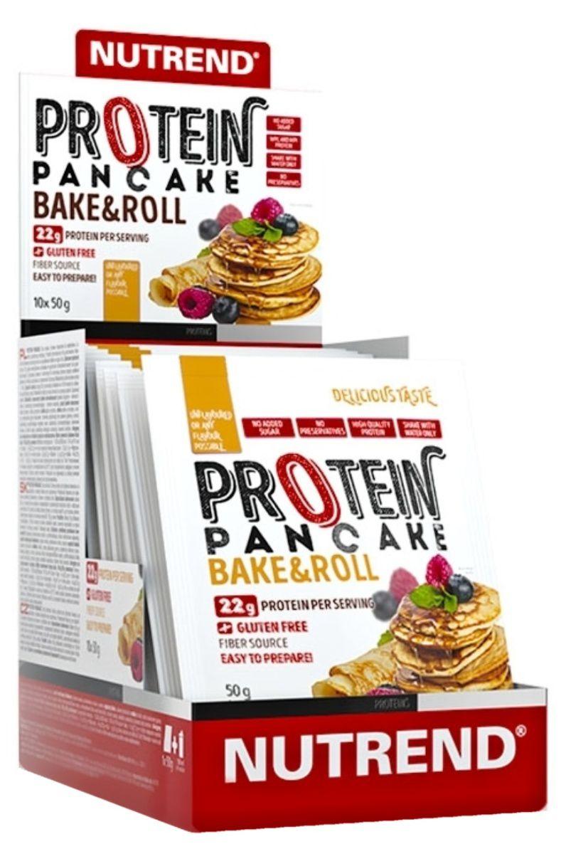 Nutrend Protein Pancake10 x 50 g - bez příchutě