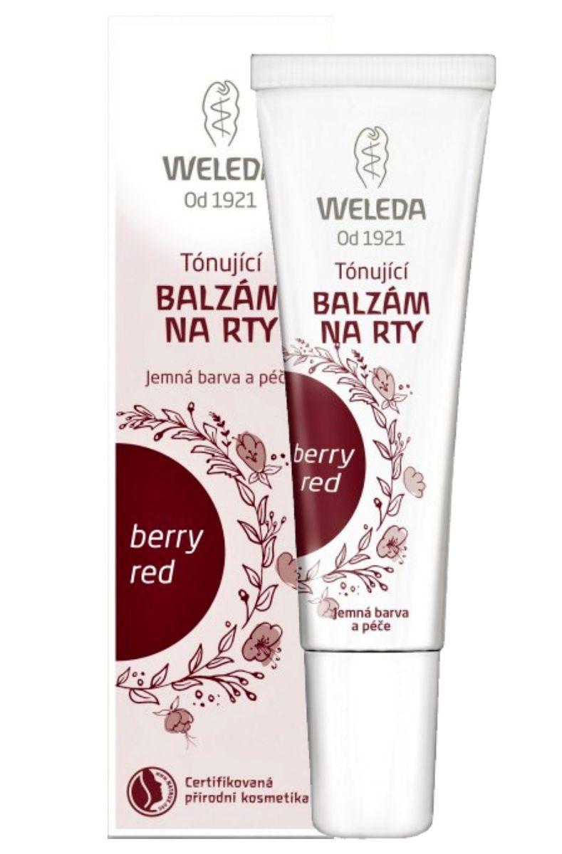 Weleda Tónující balzám na rty berry red 10 ml