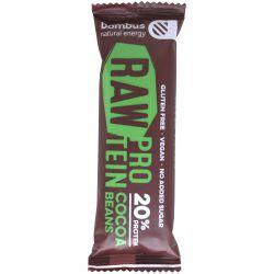 bombus Raw Proetin 20% 50 g - kakaové boby