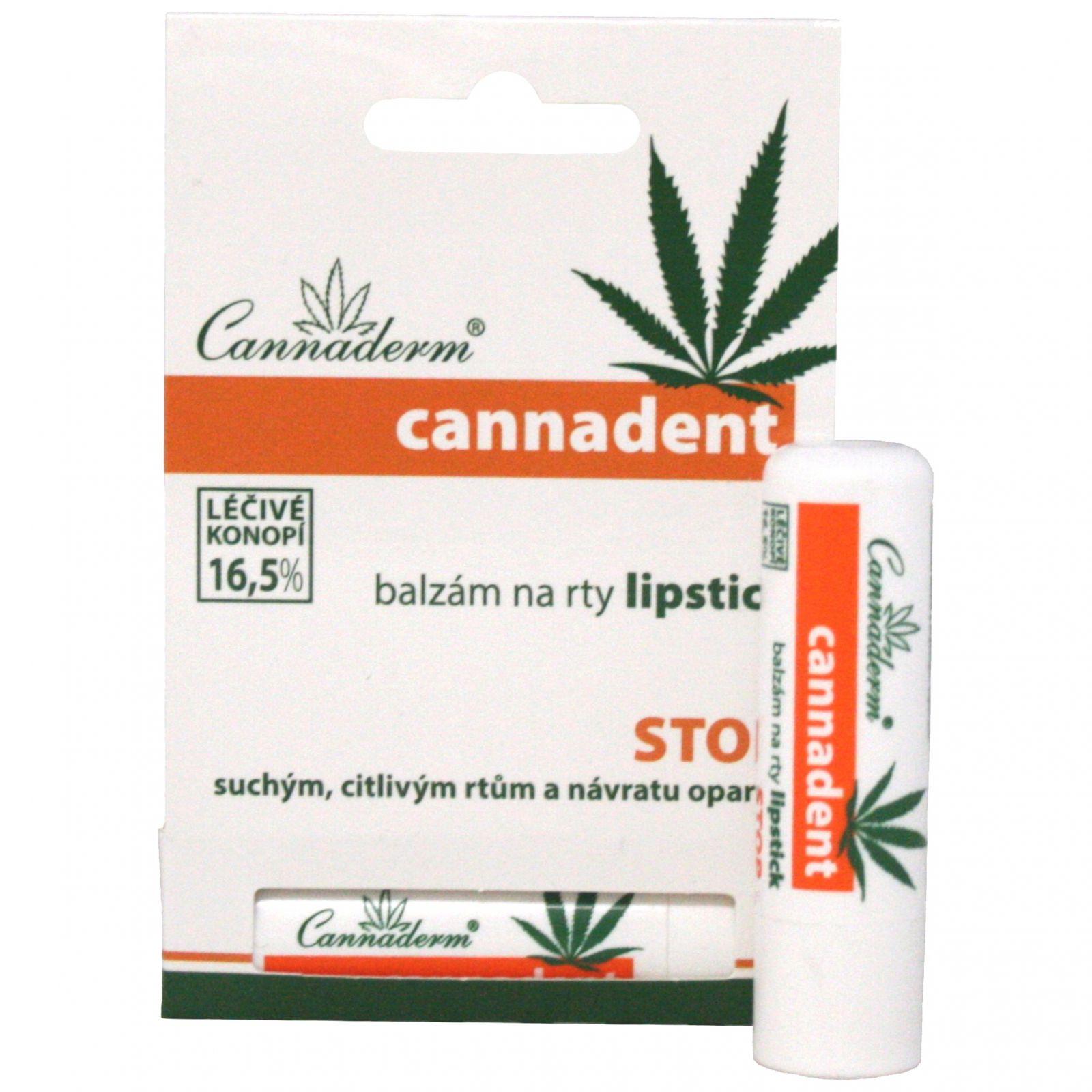 Cannaderm Cannadent - balzám na rty lipstick 4,5 g