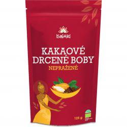 Iswari BIO Nepražené kakao – drcené boby 125 g