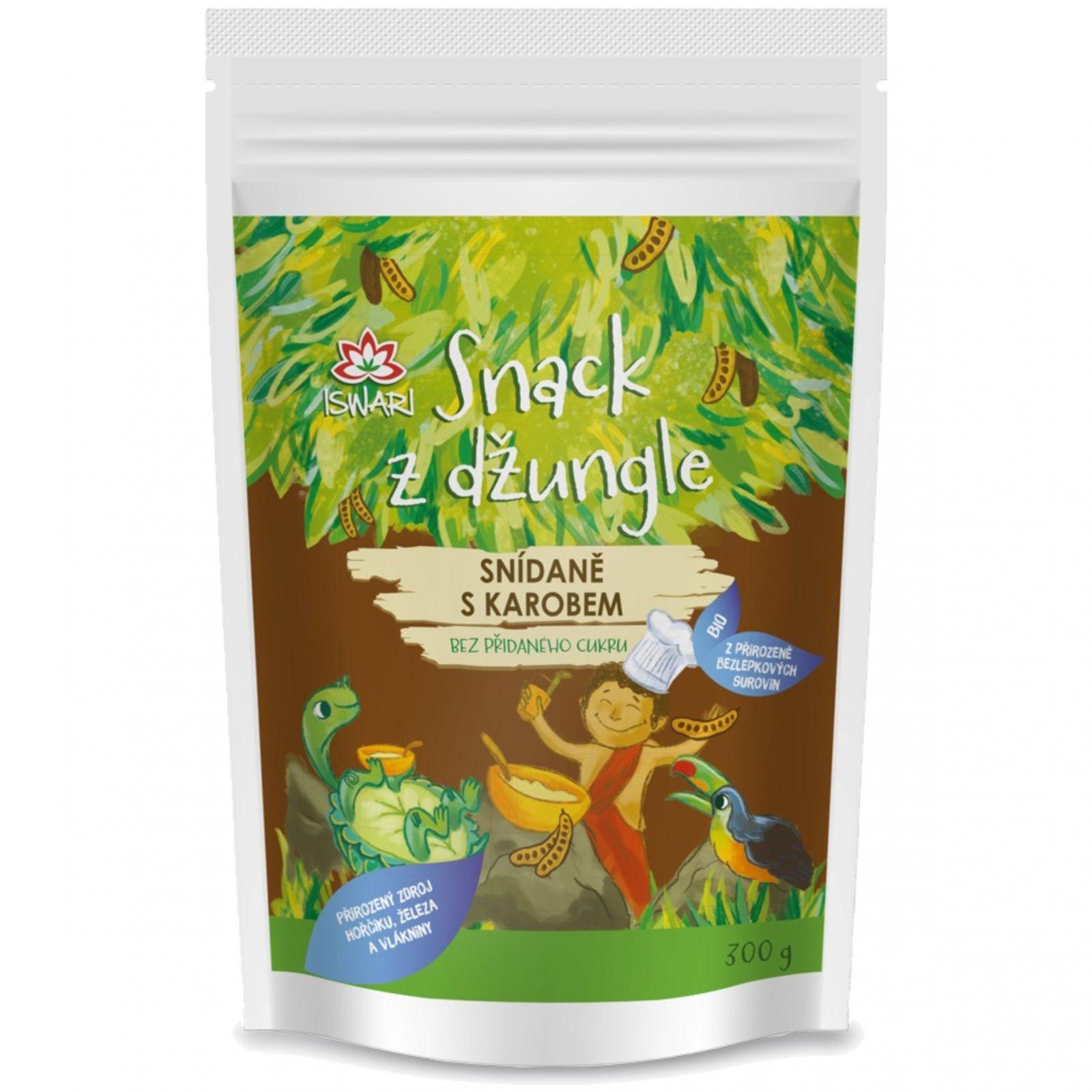 Iswari BIO Snack z džungle 300 g - snídaně s karobem